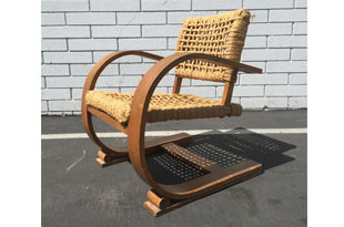 FRN688: Audoux-Minet Rope Arm Chair