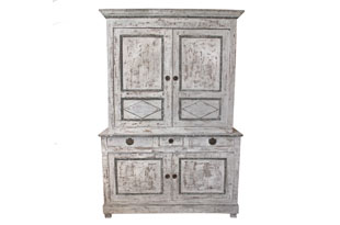 FRN728: 2 Piece Tall Painted Cabinet