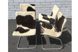 FRN684: Set of 4 Cowhide Chairs