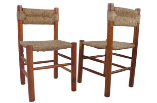FRN695: Pair of Charlotte Perriand Chairs