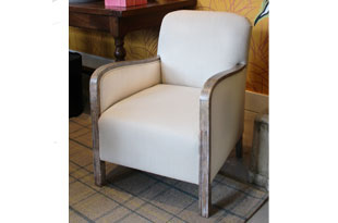 FRN736: Pair of Deco Upholstered Armchairs