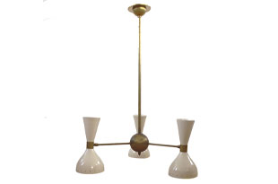 LIT421: Pair of Italian Brass Lights