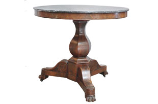 FRN718: Marble Top Pedestal Table