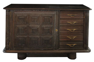 FRN770: Dark Cerused Oak French Sideboard