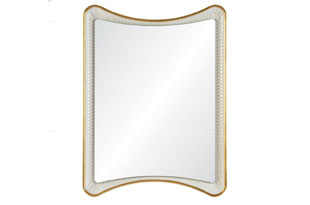 ACC3345: Aged Gold Leaf and Dove White Mirror