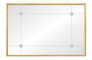 ACC3357: Aged Gold Leaf Etched Mirror