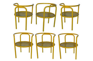 FRN829: Set of Six Gae Aulenti Chairs