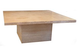 FRN816: Square Travertine Table