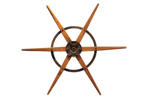 ACC3468: Metal and Wood Architectural Wheel