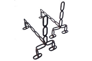 ACC3472: Pair of Chain and Iron Andirons