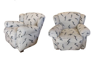 FRN815: Pair of Vintage Armchairs
