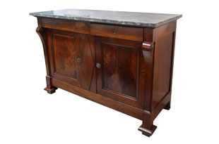 FRN560: Vintage Commode with Stone Top