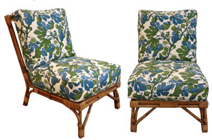 FRN825: Pair of Bamboo Low Chairs