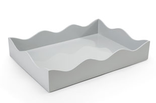 ACC3511: Large Belles Rives Tray - Pale Grey