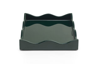 ACC3516: Small Belles Rives Tray - Bottle Green