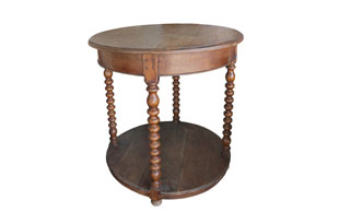 FRN861: Round Wood Side Table