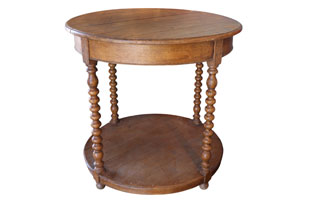 FRN863: Round Wood Side Table #2