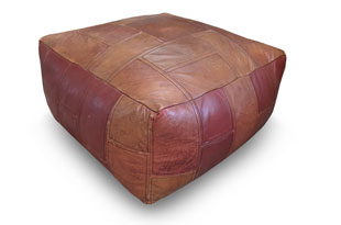 ACC3287: Vintage Leather Pouf