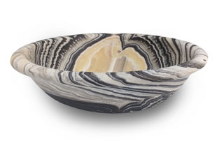 ACC4135: Free-Form Hand Carved Onyx Bowl