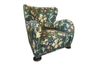 FRN867: Vintage Upholstered Floral Chair