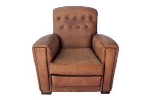 FRN896: Leather Club Chair