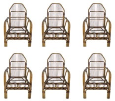 FRN922: Set of Eight Rattan Armchairs