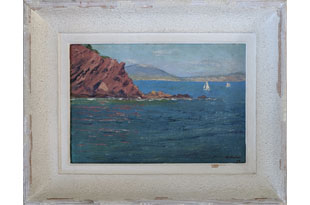 ART578: Seascape with Sail Boats