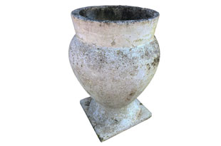 ACC4103: White Painted Urn