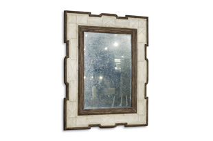 ACC1397: Tribal Faux Bone Mirror (Antiqued Mirror)