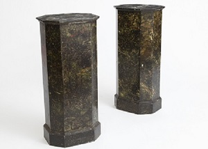 ACC002: Harbinger NY - Pair of Faux Marble Columns