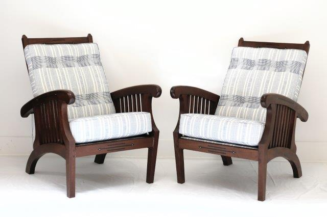 FRN904: Pair of Inlaid Chairs