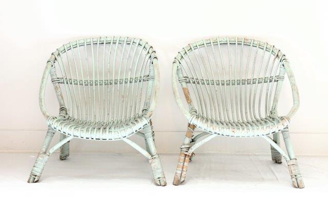 FRN2009: Pair of Rattan Chairs