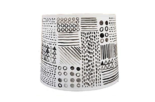 "ACC105: Harbinger NY - Ross Alexander ""Geometric Patchwork"" Shade"