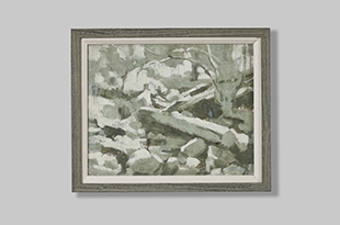 "Francois Roux ""Riverbed in Grey"""