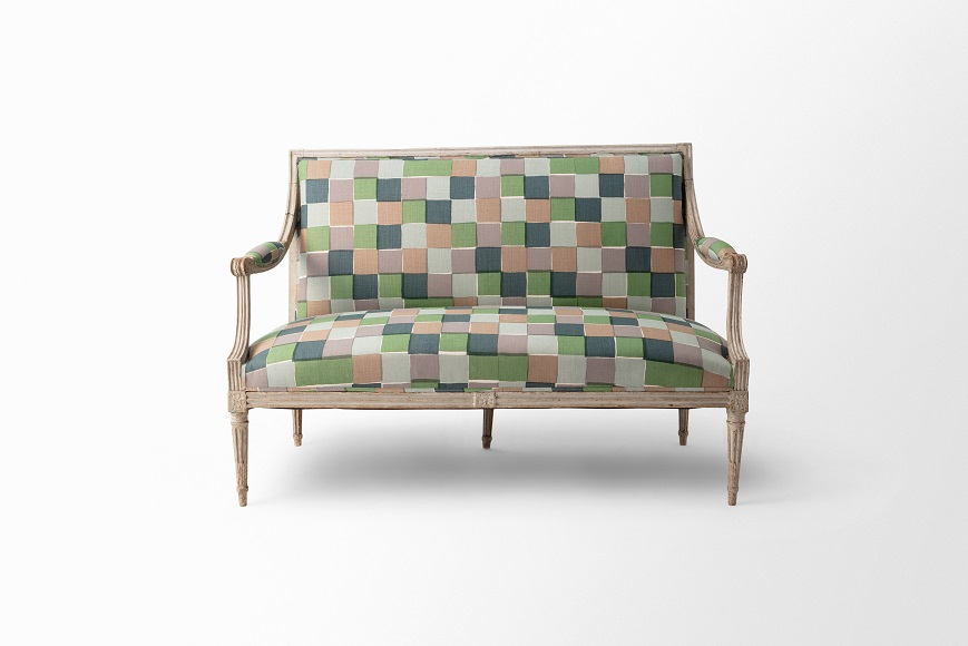 FRN1152: FRN1152 French Open-Arm Settee