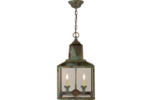 LIT130: BRANTLEY LANTERN IN VERDIGRIS