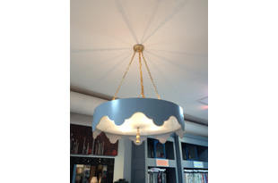 LIT235: Large Tent Tole Semi Flush