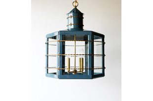 LIT289: The Commodore Lantern - Navy (available in any custom size and color)