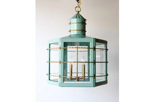 LIT290: The Commodore Lantern - Green (available in any custom size and color)