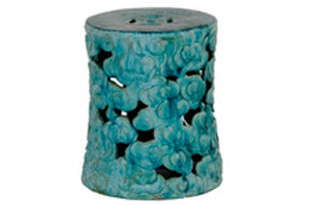 FRN489: Cloud Garden Stool – Large Turquoise