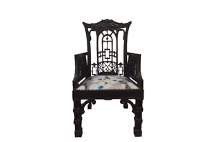 FRN366 : Pair: Chinese Chippendale Style Arm Chair