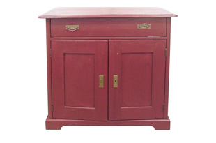FRN185: Red Painted Pine Chest
