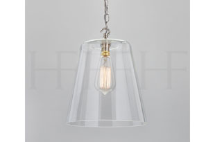 : Hector Finch Glass Bell Shade Large