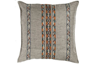 PIL311: Coral & Tusk Twill Natural Hali Stripe Pillow