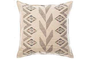 PIL317: Coral & Tusk Herringbone Diamond Pillow