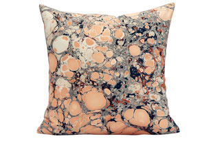 : Rule Of Three Topo RedDesert Square Pillow