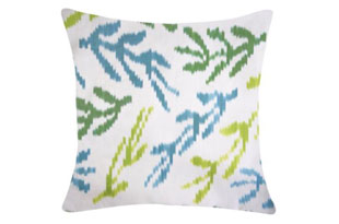 PIL341: Diodba Blue Green Coral Pillow
