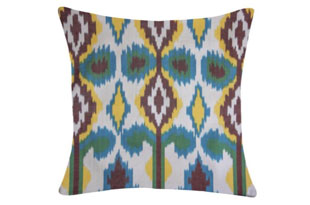PIL344: Diodba Blue Green Yellow Abstract Pillow