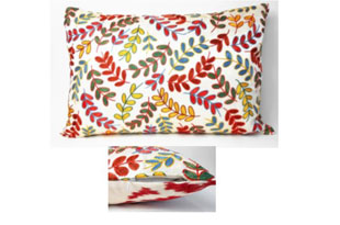 PIL354: Diodba Multi Small Leaves on Cream Pillow