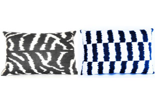 PIL345: Diodba Black and White Stripe Pillow
